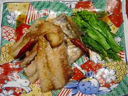 白身魚の香味ソースがけ
